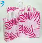 25x PAPER CARRIER BAGS TWISTED HANDLE HIGH QUALITY GIFT BOUTIQUE PINK ZEBRA