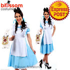 K1 Deluxe Ladies Alice in Wonderland Halloween Fancy Dress Up Costume Outfit