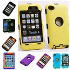 For Ipod Touth 4 4Th 4G Multi Color Body Armor Triple Layer Hard Case Cover