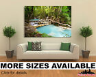 Wall Art Canvas Picture Print - Tropical Jungle Waterfalls 3.2