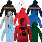 KIDS SG Custom Printed Zip Hooded Jacket Personalised Zoodie Hoodie Sweatshirt