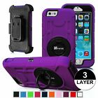Dual Layer Holster Belt Clip Case Stand Cover for Apple iPhone 6, iPhone 6 Plus