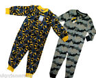 Boys Batman One Piece All In One Sleeper Cotton Sleepsuit Age 3 4 5 6 7 8 9 10