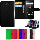Leather Wallet Book Flip Case For Sony Xperia Experia Phones + Free Screen Guard