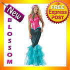 C635 Mermaid Elite Ladies Ariel Fancy Dress Costume Disney Theme Party Outfit