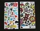US Graffiti Animal Cat iPhone 5 5s Screen Protector Crystal Front back Film cool