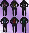 Black Onesie KEEP CALM AND GALLOP ON adult printed quality teen horse 80% COTTON
