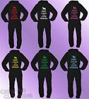 Black Onesie KEEP CALM AND LOVE HORSES adult printed quality teen 80% COTTON