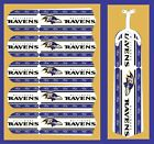 """NFL BALTIMORE RAVENS TEAM LOGOS CEILING FAN REPLACEMENTS BLADES 52""""-5 BLADES"""