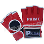 Prime MMA UFC Grappling Gloves Cage Fight Kick Boxing Muay Thai Punch Bag Red2