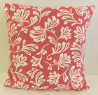 TRENDY SINGLE SOFA CUSHION COVERS CERISE AND WHITE PATTERN HOT PINK-  CREAM BACK
