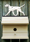 Bird House W/ Dalmatian on Peak. Home,Yard & Garden Dog Breed Products &Gifts