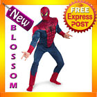 C604 Men The Amazing Spiderman 2012 Movie Classic Muscle Adult Superhero Costume