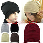 Mens Womens Winter Warm Baggy Beanie Knit Crochet Ski Oversized Slouch Cap Hat