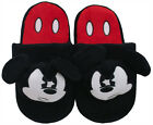 Mickey Mouse Angry Face Disney Cartoon Character Adult Womens Plush Slippers