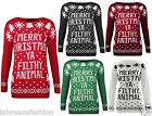 New Women's Men's Merry Christmas Ya Filthy Animal Xmas Knitted Jumper