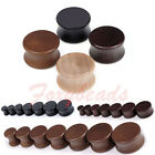 Pair Organic Wood Double Flared Saddle Ear Tunnels Plugs Expander Stretcher LOT