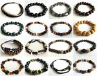 ETHNIC INSPIRED: MENS AFRICAN INFLUENCED LARGE CHUNKY ELASTIC BRACELET GIFT