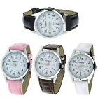 24 hour forms Leisure Style Women Leather Analog Quartz Wrist Watch T17S