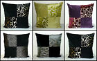 ZIPPY LARGE SQUARE SCATTER BACK CUSHION COVER - CLARKE & CLARKE VELVET CHENILLE