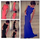 Chic Women Sleeveless Prom Ball Cocktail Party Maxi Dress Formal Evening Gown CB