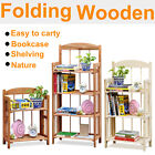 2/3/4 Tire Unit Wooden Folding Display Bookcase Shelving Storage Market Stalls