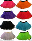 Christmas Fancy Dress Sequin Tutu Skirt Layered Neon Florescent Costume 1980