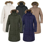 Trespass LADNA Womens Ladies Hooded Casual Coat Longer Length Jacket