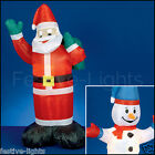 LED INFLATABLE FATHER CHRISTMAS SANTA SNOWMAN OUTDOOR FIGURE DECORATION LIGHT