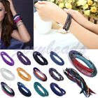 HOT Stardust Crystal Wrap Mesh Magnetic Clasp Double Bracelet/Necklace 15 Colors