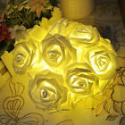 20LED Fairy String Lights Wedding Garden Party Christmas Decoration Rose Flower