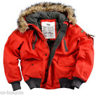 ALPHA INDUSTRIES MOUNTAIN JACKET WINTERJACKE PARKA MIT KAPUZE RED ROT NEU OVP