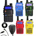 Baofeng UV-5R Dual Band 2 Way Walkie Radio + Earpiece / Speaker Mic / Cable US