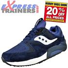Saucony Mens Grid 9000 Retro Running Shoes Trainers Navy White * AUTHENTIC *