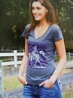 Wrangler Ladies Connie  Horse Riding CottonT shirt Grey Merle
