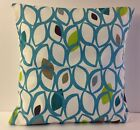 TRENDY 50S STYLE TEAL BEIGE LIME GREEN GREY OFF WHITE SCATTER CUSHION COVERS