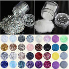 46 Colour Choice Nail Art FINE GLITTER DUST ♥ UV Gel Acrylic Nails Accessory
