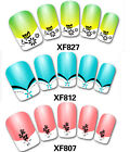 1 sheet 3D Nail Art Stickers Rhinestones Professional French Nails Tips 40 Style