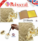 Gold Leaf Silver Leaf Imitation Leaf 25 Leaves 140mm x 140mm Transfer Loose Leaf