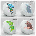 Cute Nursery Animal Mouse Ceramic Knob Pull Kitchen Pottery Furniture Door