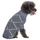 Blueberry Pet Clothes Gifts for Dog Acrylic Dog Sweater with Diamond Pattern
