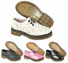 Kids Girls Designer Classic Patent Cear Sole Pink Floral Boot Shoes Size