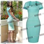 Women Elegant Lady Style Bodycon Party Office Lady Baby Blue Bridesmaids Dresses