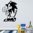 SONIC HEDGEHOG Boys Wall Art Sticker Vinyl Gift Transfer FREE PERSONALISATION