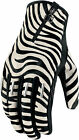 Icon 1000 Womens Zebra Short Catwalk Goatskin Palm Motorcycle Gloves