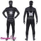 Spiderman 2nd Skin Black Costume Mens Zentai Suit Super Hero Zentai Second Suit