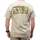 5.11 TACTICAL BUCKSHOT LOGO MENS T-SHIRT COTTON TOP HUNTER GRAPHIC TEE KHAKI TAN