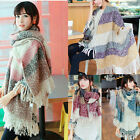 Women Wool Blend Scarves Tartan Capes Lady Shawl Wrap 2014 Brand Winter Scarf  K