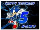 Sonic Icing Birthday Edible Image Cake Topper Personalized Frosting Sheet