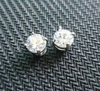 DI US 1Pair Clear Crystal Magnet Earring Unisex Men's Earring Clear--4 Claw